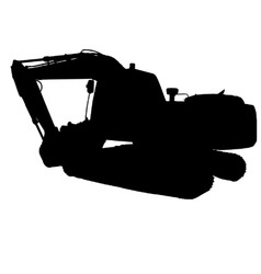 mechanical digger excavator vector image
