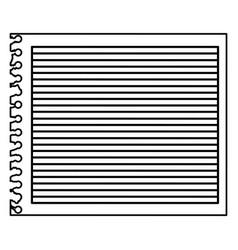 Monochrome striped notebook sheet in blank vector