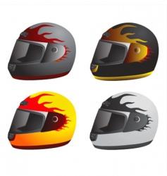 motorcycle helmet vector image