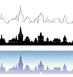 Old town design elements vector