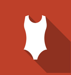 one piece swimsuit icon vector image
