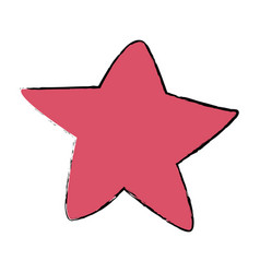 Pink star fish sea animal wild icon vector
