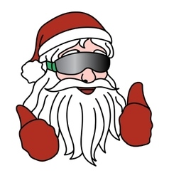 Portrait of Santa Claus with ski goggles vector image vector image