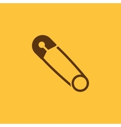 Safety pin icon design safety pin symbol vector