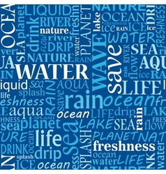 Seamless water tags cloud vector image vector image