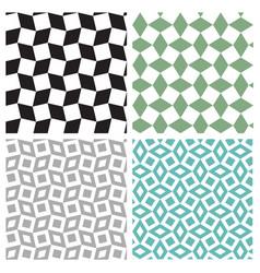 Set of geometric square seamless pattern vector