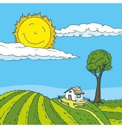 Summer in the Village vector image