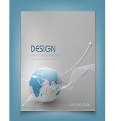 template for a business with a globe vector image vector image