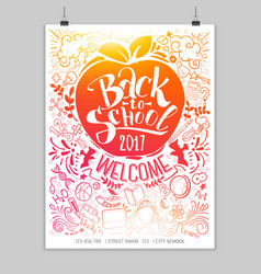 Vertical back to school vector