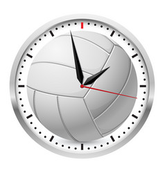 volleyball clock on white background for design vector image vector image