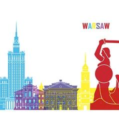 Warsaw skyline pop vector