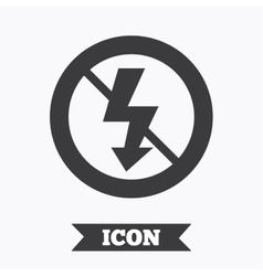 No photo flash sign icon lightning symbol vector