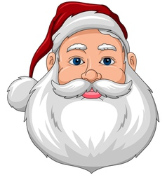 Santa smiling face front vector