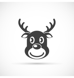 Reindeer christmas icon flat vector