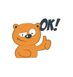 cute bear agreed vector image