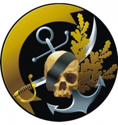 Pirate badge vector