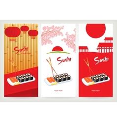 Banner sushi vector
