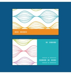 Colorful horizontal ogee horizontal stripe vector
