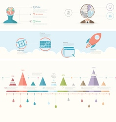 Infographics elements for presentation templates vector