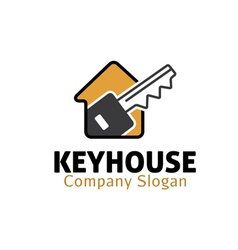 Keyhouse design vector
