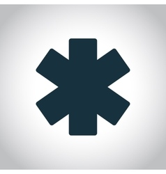 Emergency star icon vector