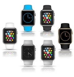 Smart watches wearable collection vector