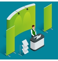 Promotion counter set Trade stand Blank vector image