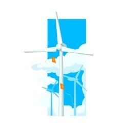 Alternative energy wind farm vector