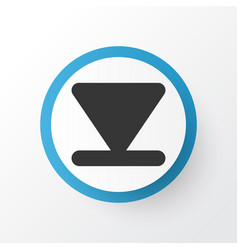 Arrow down icon symbol premium quality isolated vector