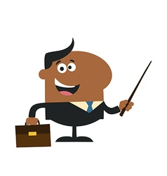 Businessman Holding a Pointer Cartoon vector image vector image
