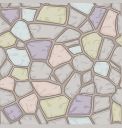 Cartoon colored stone seamless background texture vector