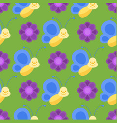 Colorful butterflies seamless pattern decorative vector