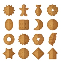 Cookies of different shapes star and vector