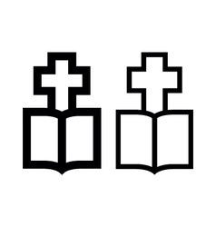 Cross-Bible vector image