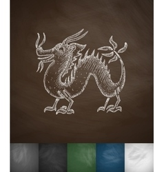 dragon icon Hand drawn vector image