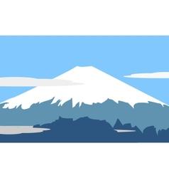 fujiyama symbol of japan vector image vector image