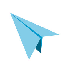 Isolated paperplane design vector