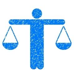 Judge person grainy texture icon vector