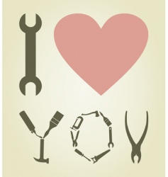 love tool vector image vector image