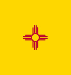 new mexico state flag vector image vector image