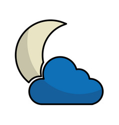 night cloudy weather isolated icon vector image