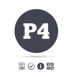 parking fourth floor icon car parking p4 symbol vector image vector image