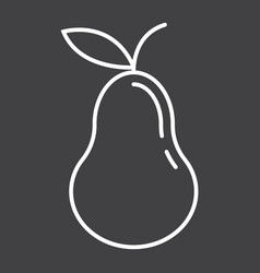 pear line icon fruit and diet graphic vector image vector image
