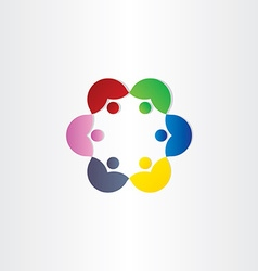 People in circle business meeting icon vector