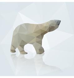 Polar bear from triangles eps10 vector