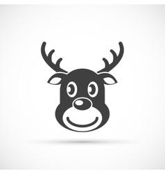 Reindeer christmas icon flat vector