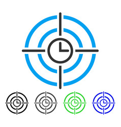 Time target flat icon vector