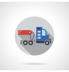 Truck without trailer round flat color icon vector