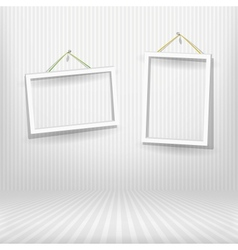 Two frames striped room vector image vector image