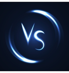 Versus letters luminous logo Neon V and S flat vector image